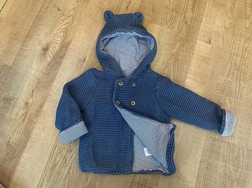 Boys M&S lined cardigan/jacket 9-12m