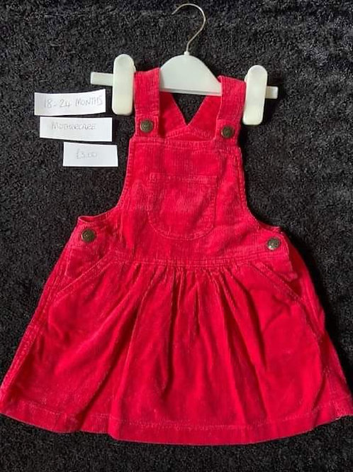 Red Corded Dress	Mothercare - 18-24m