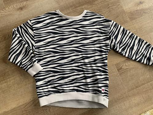 Girls zebra H&M jumper 6-8y