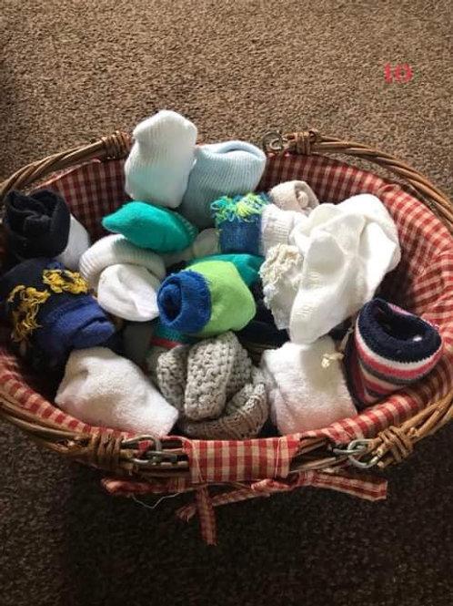 Big basket of boys socks -