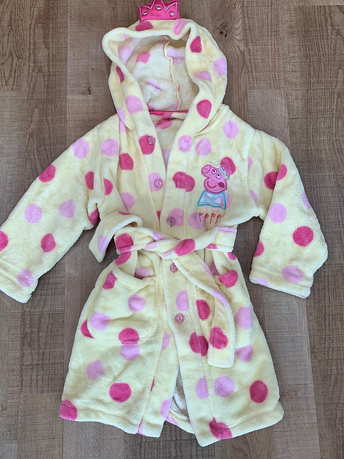 Girls Peppa pig dressing gown 3-4 years