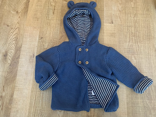 Boys M&S lined cardigan / jacket 12-18m