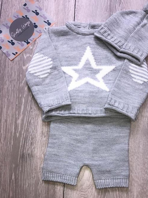 Grey Star knitwear 3 piece set