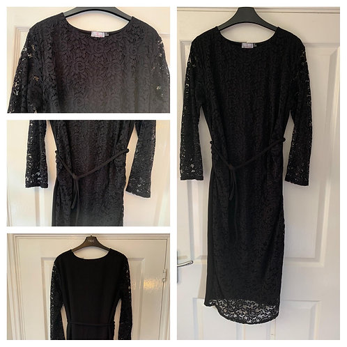 Want That Trend, Black Lace Maternity Dress Size 16