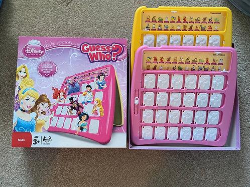 Disney princess guess who game