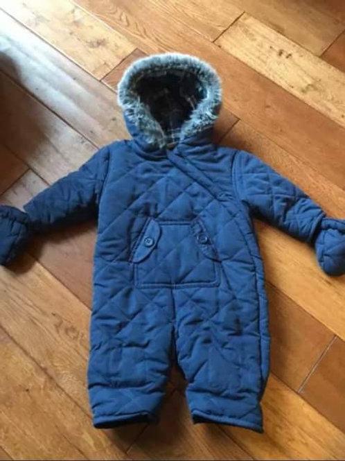 Mini club 3-6 mth fur snowsuit with mittens