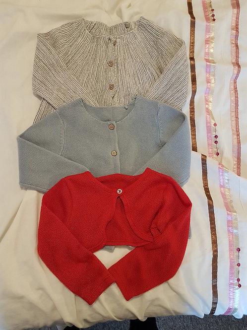 Girls cardigan bundle 9-12m