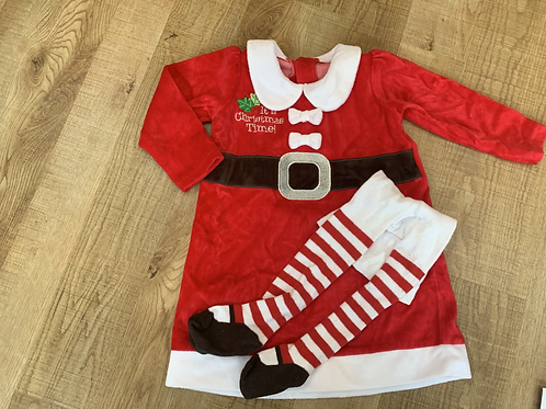 Girls George Christmas outfit 12-18m. Post £3.50