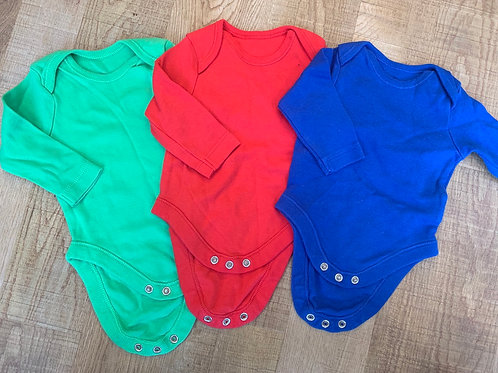 Boys F&F coloured vest tops 0-3m