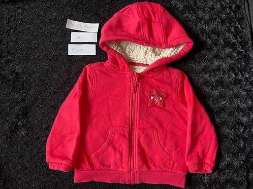 Pink Fleece Hooded Top M&S18-24m