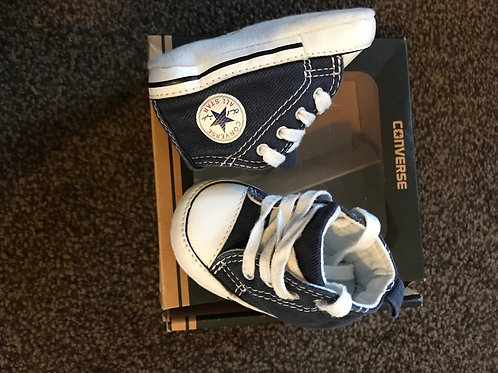 Converse Pram shoes 0-3 Mths