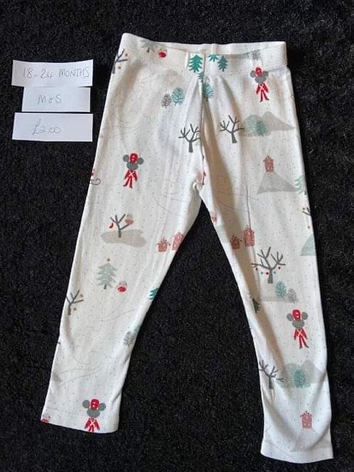 Christmas Leggings M&S18-24m