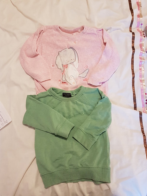 Girls jumpers  9-12m