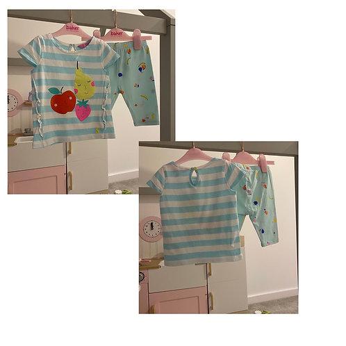 Joules fruit print top & ¾ leggings 12/18m