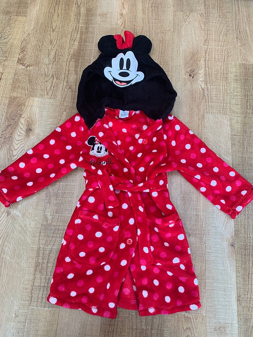 Girls Minnie Mouse dressing gown 2-3 years