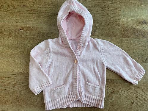 Girls M&S pink cardigan 6-9m