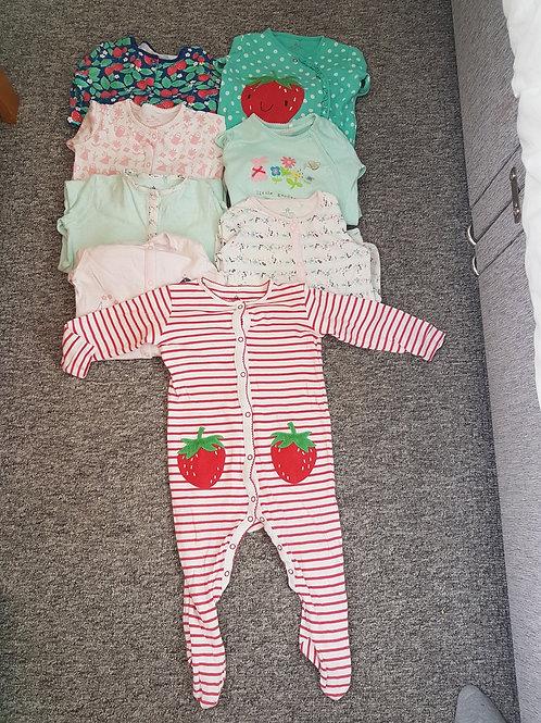 Girls sleepsuits 12-18mNext