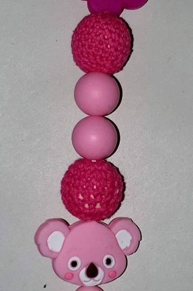 Pink Teddy bear teether
