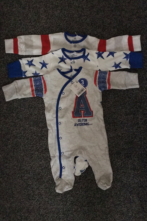 Set of 3 baby grows brand new with tags - Next 1m