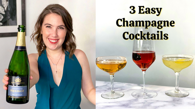 3 Easy Champagne Cocktails for NYE
