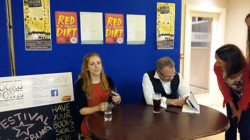 Mike McCormack signing Solar Bones & Elizabeth Reapy signing Red Dirt Books@One Festival Louisburgh