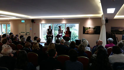 Big Crowd for Mike McCormack & Elizabeth Reapy Books@One Festival Louisburgh