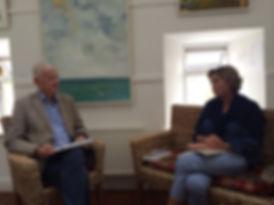 Caroline Preston interviewed by John Lyons Books@One Festival Louisburgh