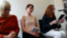 Geraldine Mitchell, Caroline Healy, Marian Kilcoyne Books@One Festival Opening Night