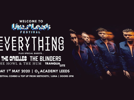 Everything Everything and special guests to open the Live at Leeds Welcome Party!