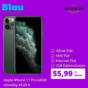 iPhone 11 Pro mit Blau 3GB