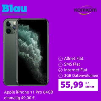 iPhone 11 Pro mit Blau 3GB