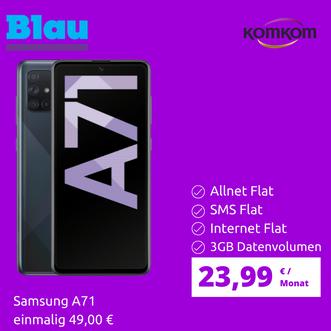 Samsung A71 + Blau Allnet 3GB