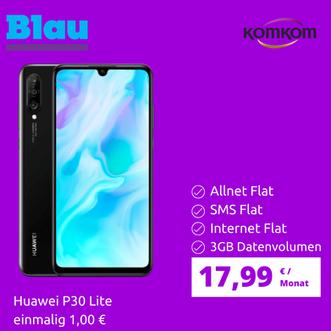 Huawei P30 Lite + Blau 3GB Allnet