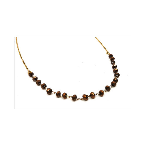 Perles facettes chaîne