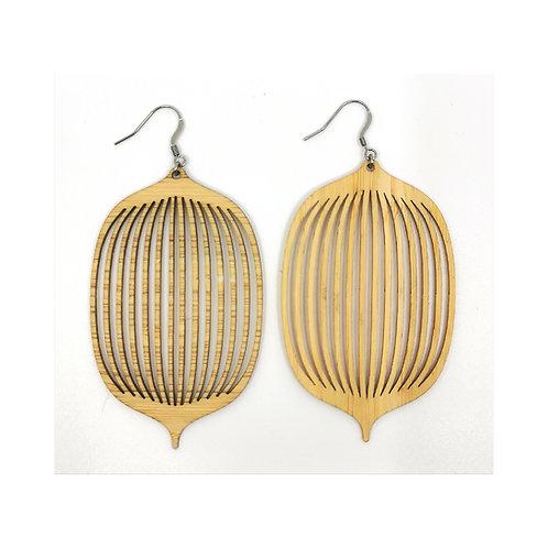 Boucles d'oreilles Kyoto Bambou