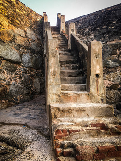 Stairs back up to Fort