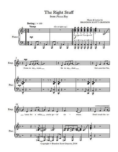 The Right Stuff (Piano Vocal)