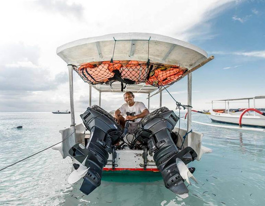 Boat can bring you to a great snorkeling spot