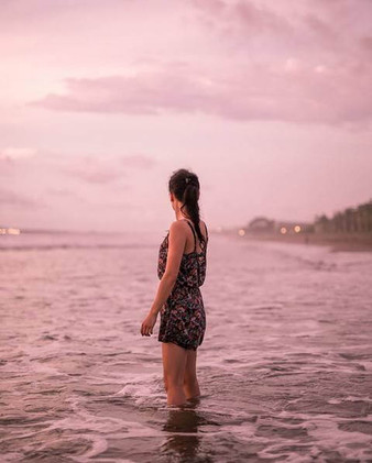Sunset at South Bali's beach