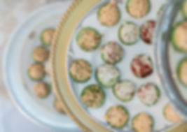 Catering Creations Cucumber Rounds with Various Topping