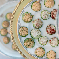 Catering Creations Cucumber Rounds With Assorted Toppings