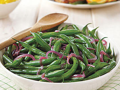 Seasoned Green Beans w/ Red Onions