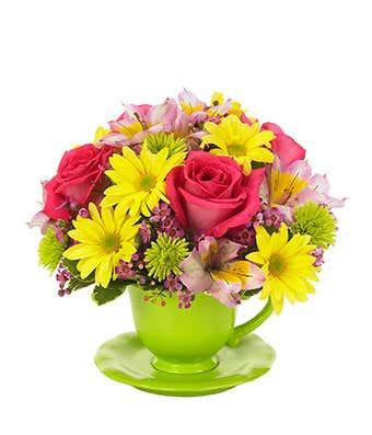 Teacup Flower Arangment