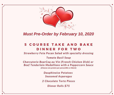 Five Course Valentine's Dinner for 2