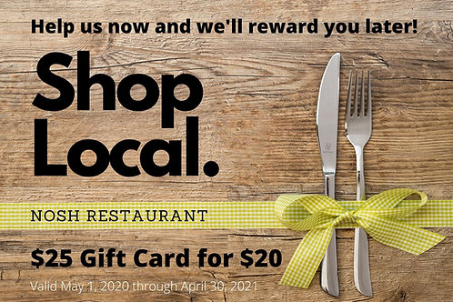 Shop Local Gift Card $25 for $20