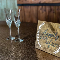 Catering Creations Bride and Groom Champagne Glasses