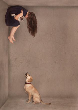 Elin on the wall wuith sofie.jpg