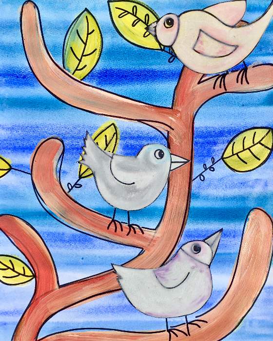 birds_oil pastels