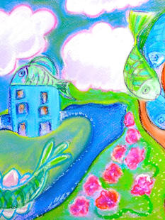 Dream scapes inspired by Marc Chagall