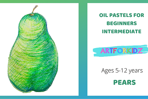 OIL PASTELS FOR BEGINNERS - PEARS